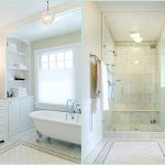 Shower Ideas For Master Bathroom With White Theme Color