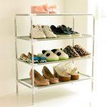 Simple metal shoe rack idea from IKEA