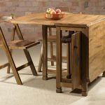 Small Drop Leaf Table With Chair Storage Plus Classic Design Style
