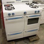 Small White Blue Antique Looking Stoves Plus Oven