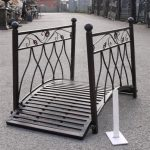 Small metal bridge for garden