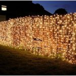 String light fence idea as decorative fence idea