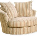 Striped Design Of Oversized Chairs For Two And Pillows