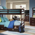 Sturdy Bunk Beds For Adults With Wooden Made And Turquoise Bedding