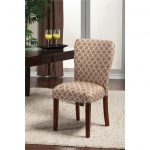 Stylish Parsons Chairs Target With Cool Pattern On Fur Rug