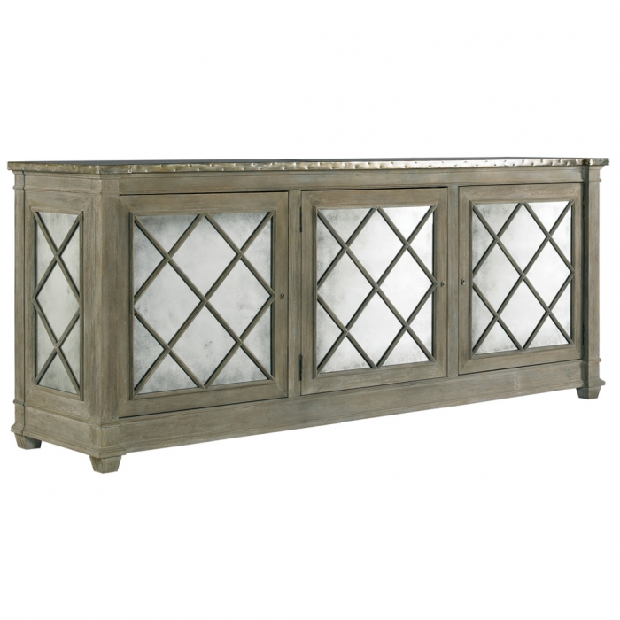 mirrored media cabinet amazing mirrored media console homesfeed 4163