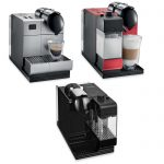 Three Types Of Espresso Machine With Milk Frother And DIfferent Color