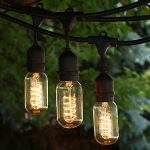 Three units of string lights for outdoor area in vintage style
