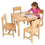 Traditional Wooden Table And Chair Set For Toddlers