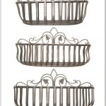 Triple Wroiught Iron Wall Mounted Fruit Basket