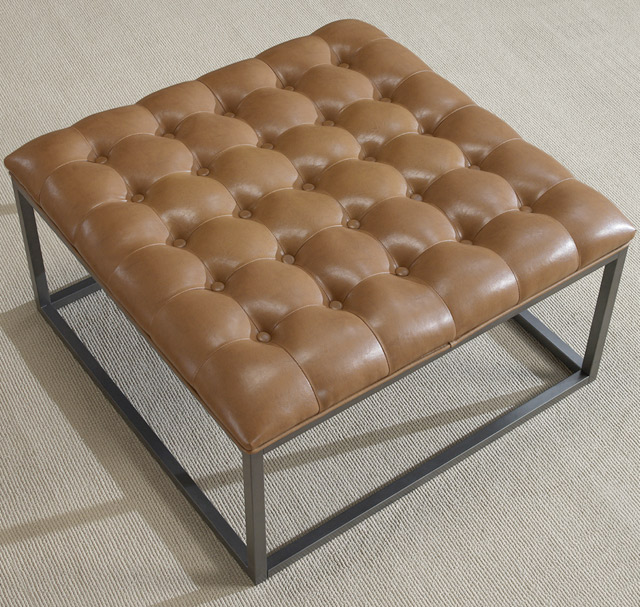 Unique And Creative Tufted Leather Ottoman Coffee Table HomesFeed - Tan leather ottoman coffee table