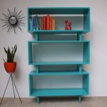 Turquoise book rack in vintage style