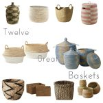 Twelve Random Design And Color Of Senegalese Storage Baskets