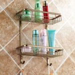 Two Layer Bathroom Shampoo Rack For Shower