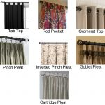 Types Of Curtain Rods With Types Of Curtains