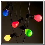 Vintage string lights for garden in various colors