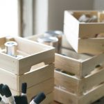 Vintage wine crates are transformed into useful storage solution