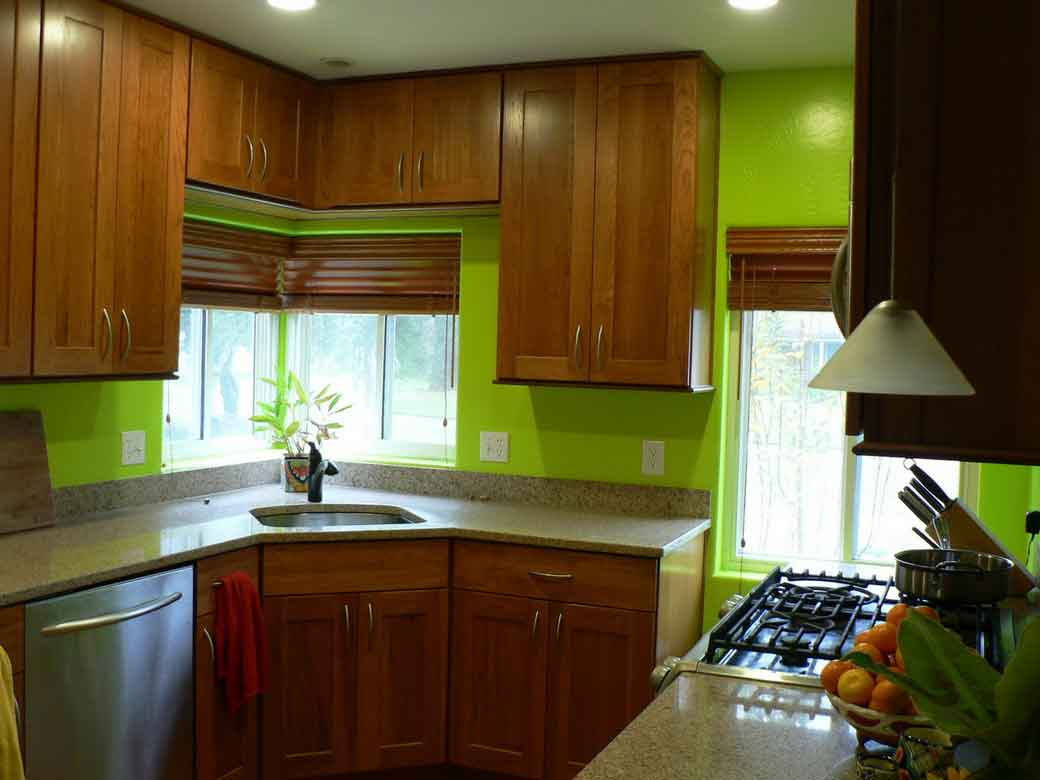 amusing green kitchen paint colors white cabinets | Feel a Brand New Kitchen with These Popular Paint Colors ...