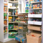 Walk In Pantry Shelving Systems With Iron Baskets