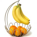 Wall Mounted Fruit Basket With Bowl And Banana Holder