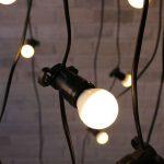 Warm look vintage string lights for outdoor
