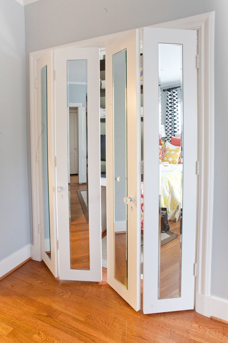 White Bifold Closet Doors Ikea With Gl