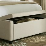 White End Of Bed Storage Bench With Pillow In It