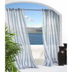 White Grey Stripped Indoor Outdoor Curtains