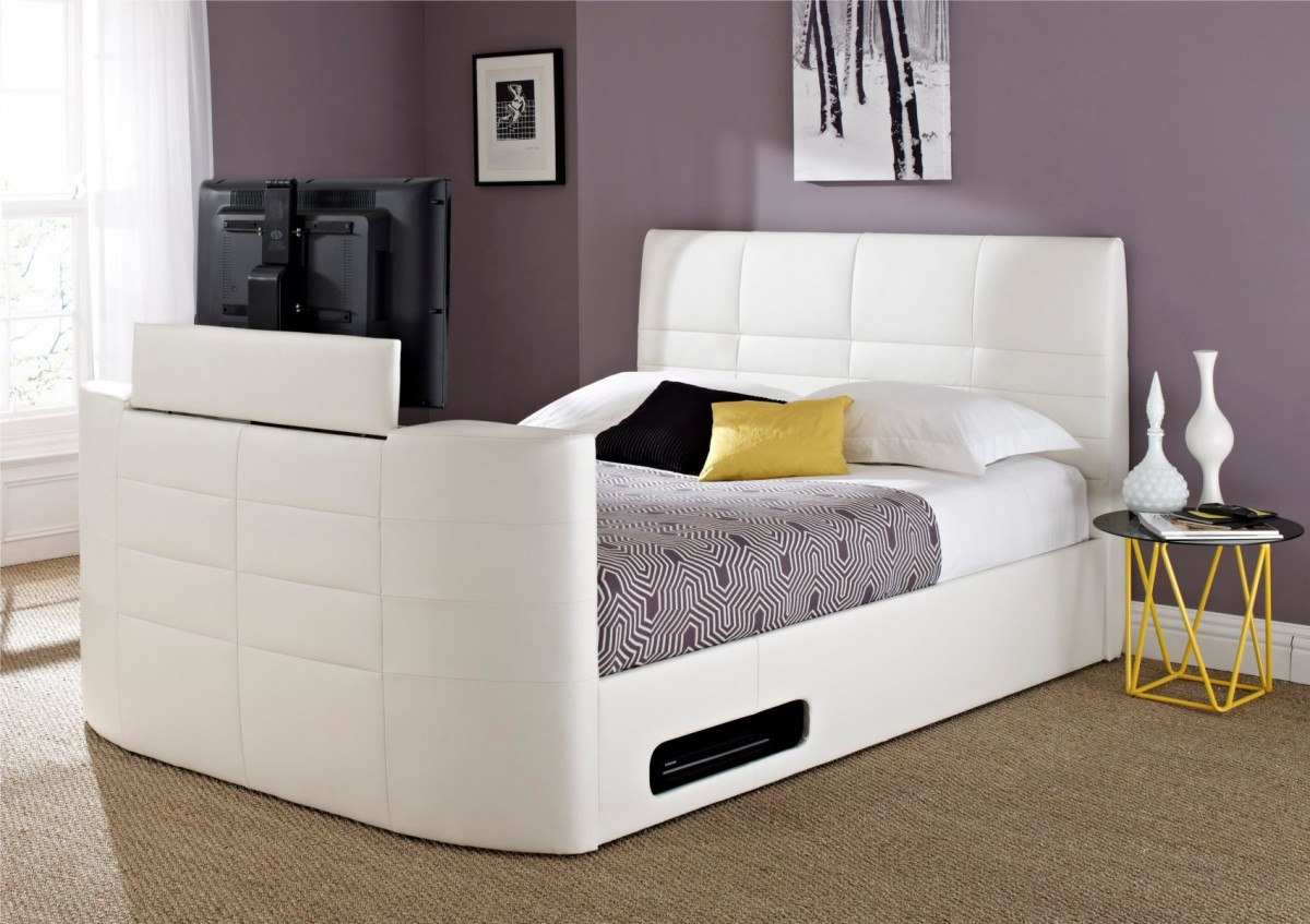 Cool Beds For Small Rooms With Limited Storage: Cool Beds With Built In TV