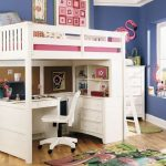 loft beds with desk for girls