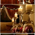 Wine glass wonder as creative Christmas candle holders