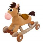 Wooden Brown Rocking Horses For Toddlers