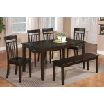 Wooden Dinette Sets With Bench And Armless Chairs