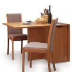 Wooden Drop Leaf Table With Chair Storage