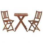 Wooden Outdoor Bistro Set Ikea With Double Chairs