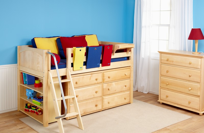 kids furniture toddler beds with storage homesfeed 17528 | wooden toddler size bed idea with drawer system and built in ladder and also side railing system