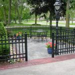 Wrought iron fences in black