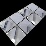 decorative mirror tiles in square shape