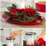 layered Christmas centerpieces