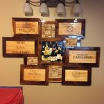 wine crate wall art idea in vintage style