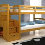 Awesome Wooden Toddler Bunk Beds With Stairs Drawers And Grey Black Rug