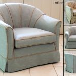 Barrel Chair Slipcovers Before And After