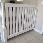Beautiful White Wooden Child Safety Gates For Stairs