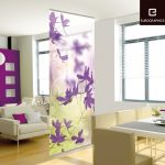 Beautiful Wooden Floral Curtain Design Of Wall Partitions Ikea Between Living Room And Dining Room