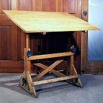 Big Wooden Drafting Table