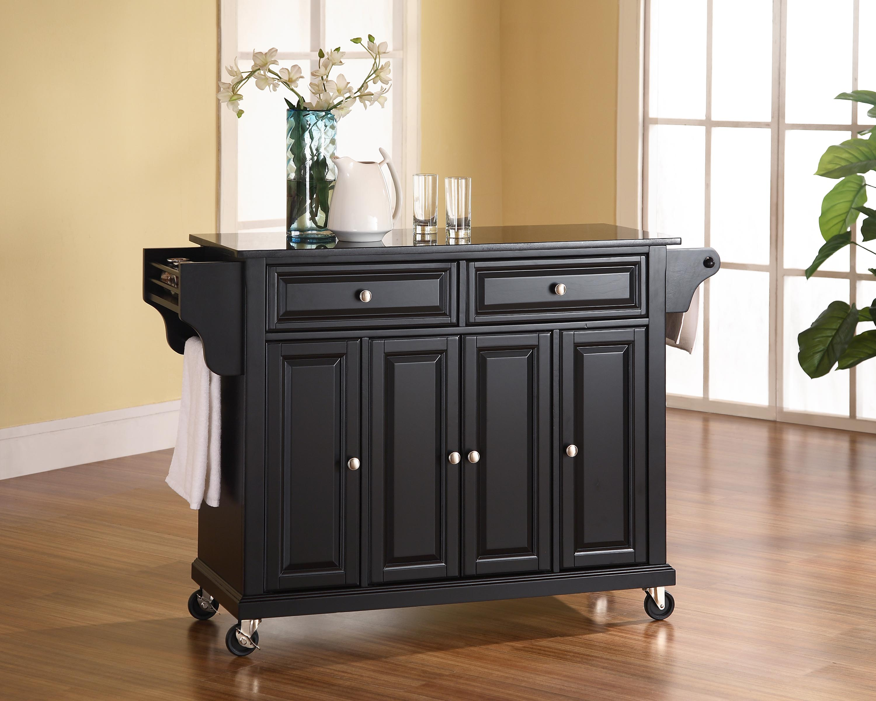 wheels for kitchen island best kitchen island on casters homesfeed 6851