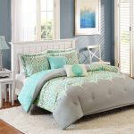 Blue Green Grey Better Homes and Garden Comforter Sets Design With Fur Rug White Curtains And Furniture