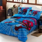 Boys Bedroom With Spiderman Superhero Bedding Sets