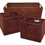 Brown Triple Extra Large Storage Baskets