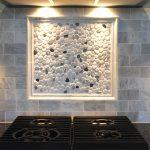 Carrara Marble Backspalsh For KItchen Near Stove And Best Lighting